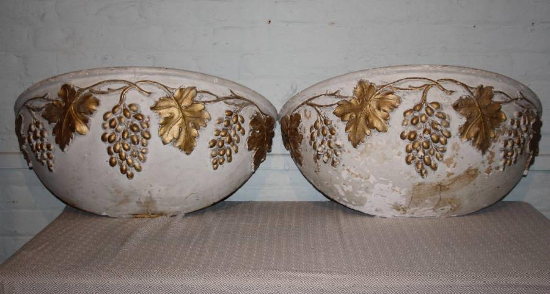 Pair of plaster troughs
