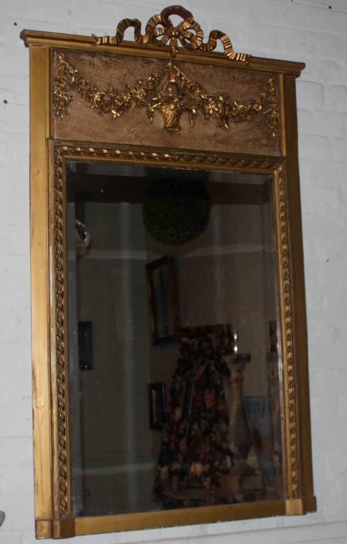 Gilt Trumeau Mirror