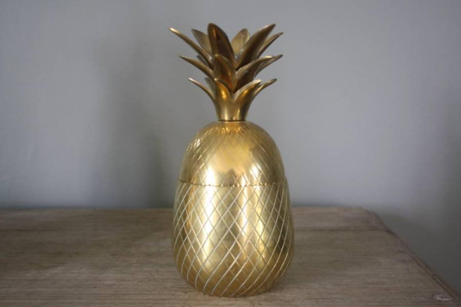Brass Pineapple Ice Bucket 1970`s
