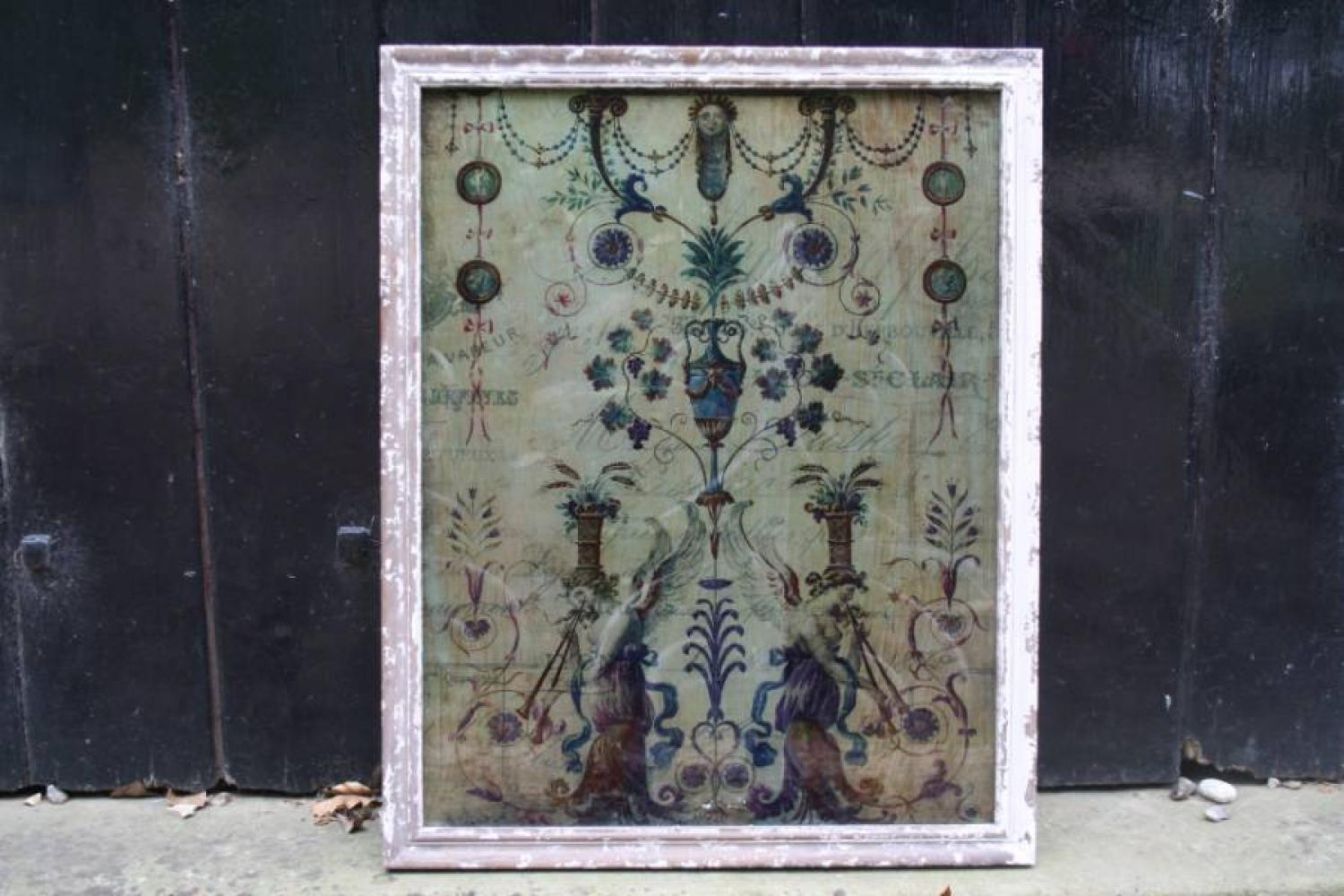 Floral decoration on Glass - new