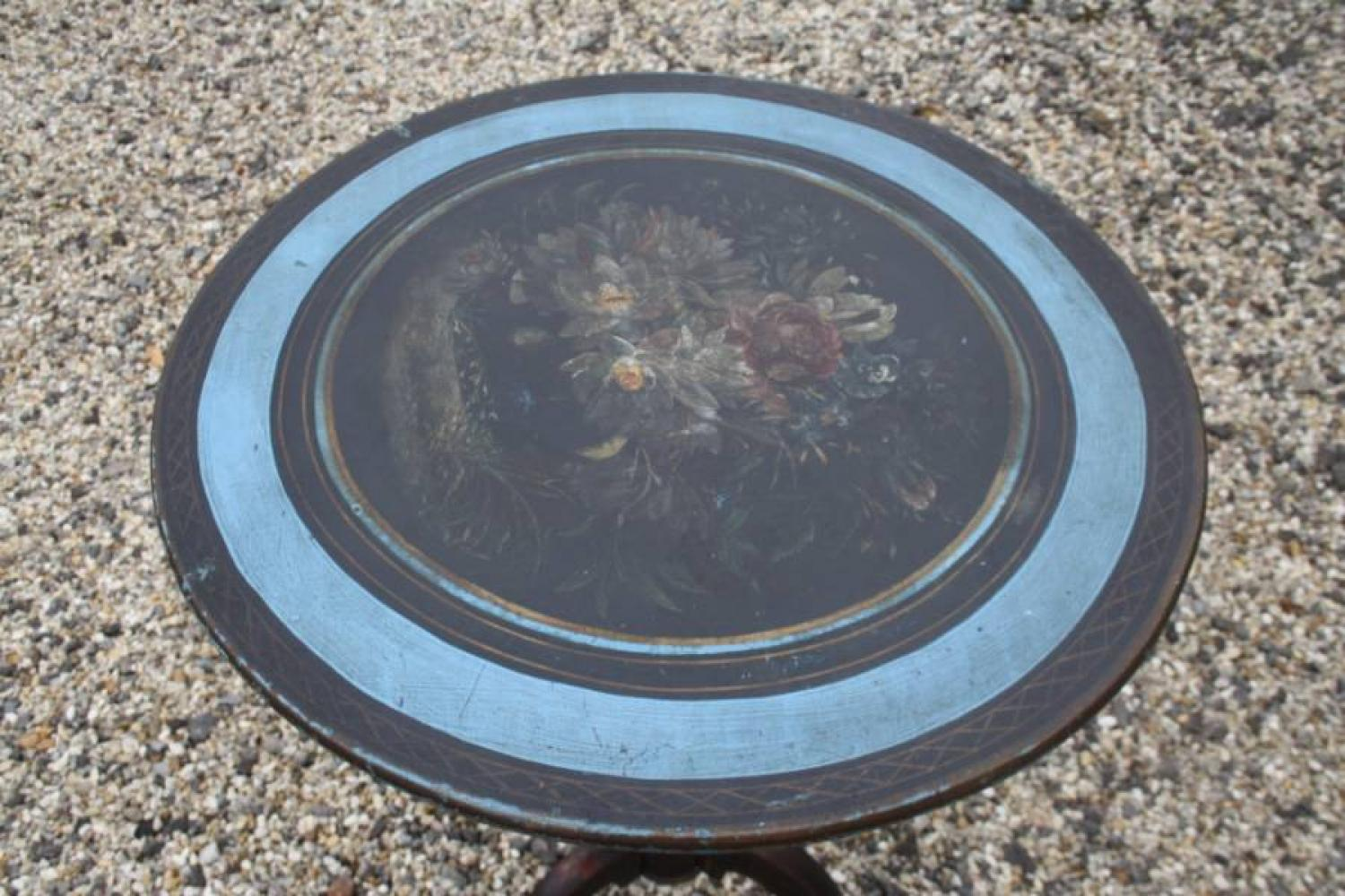 Belgian tilt top table with painted top