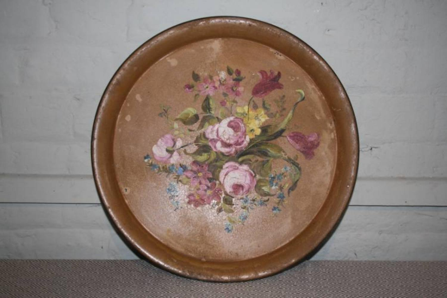 Painted Toleware Tray