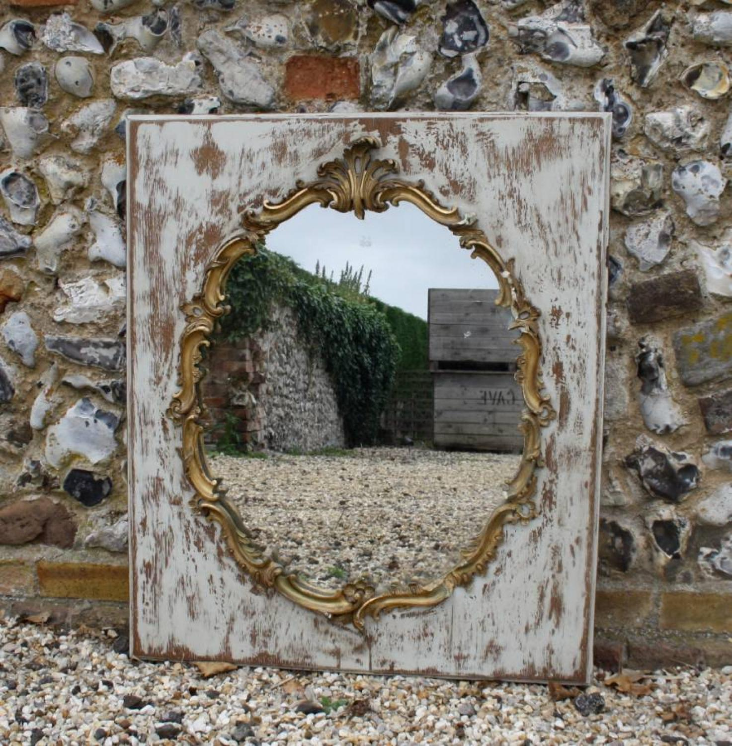 Mirror in Gilt and Wooden Frame