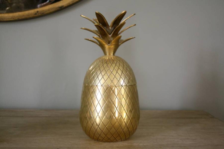 Brass Pineapple Ice Bucket 1970`s