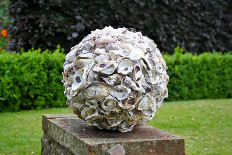 Pair of Decorative Shell Balls