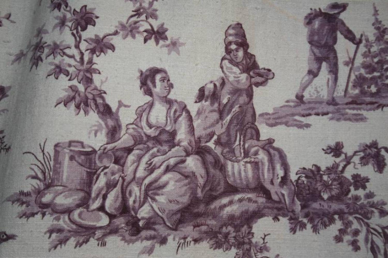Pair of French Toile Curtains
