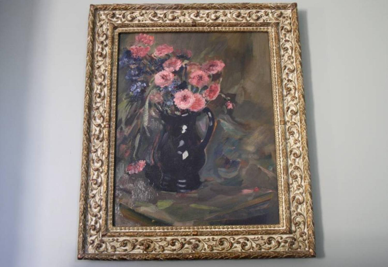 Oil of flowers in jug