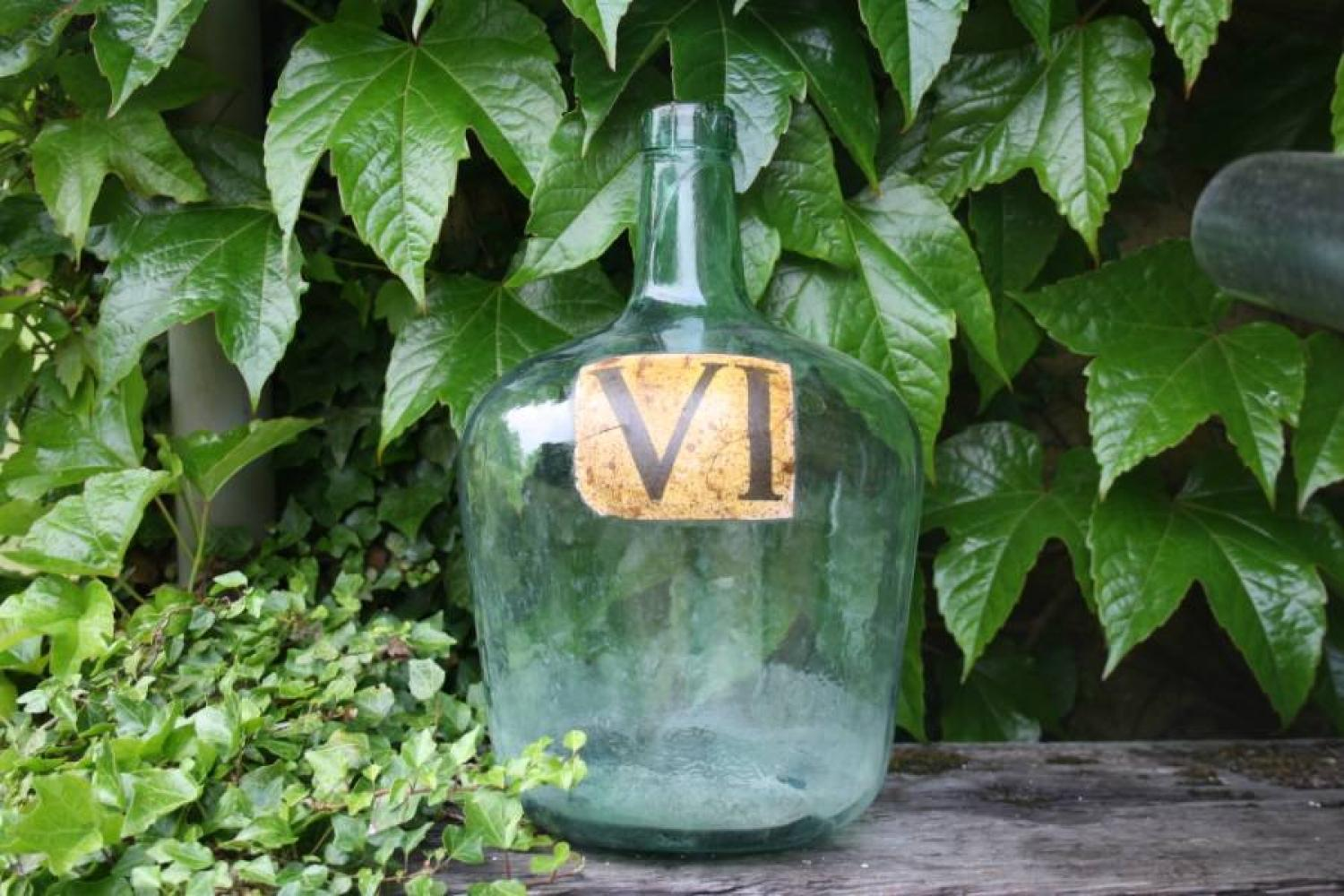 Spanish bottle with roman numerals