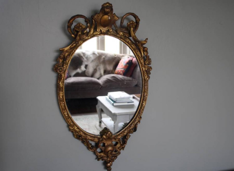 19th Century Gilt Oval Mirror