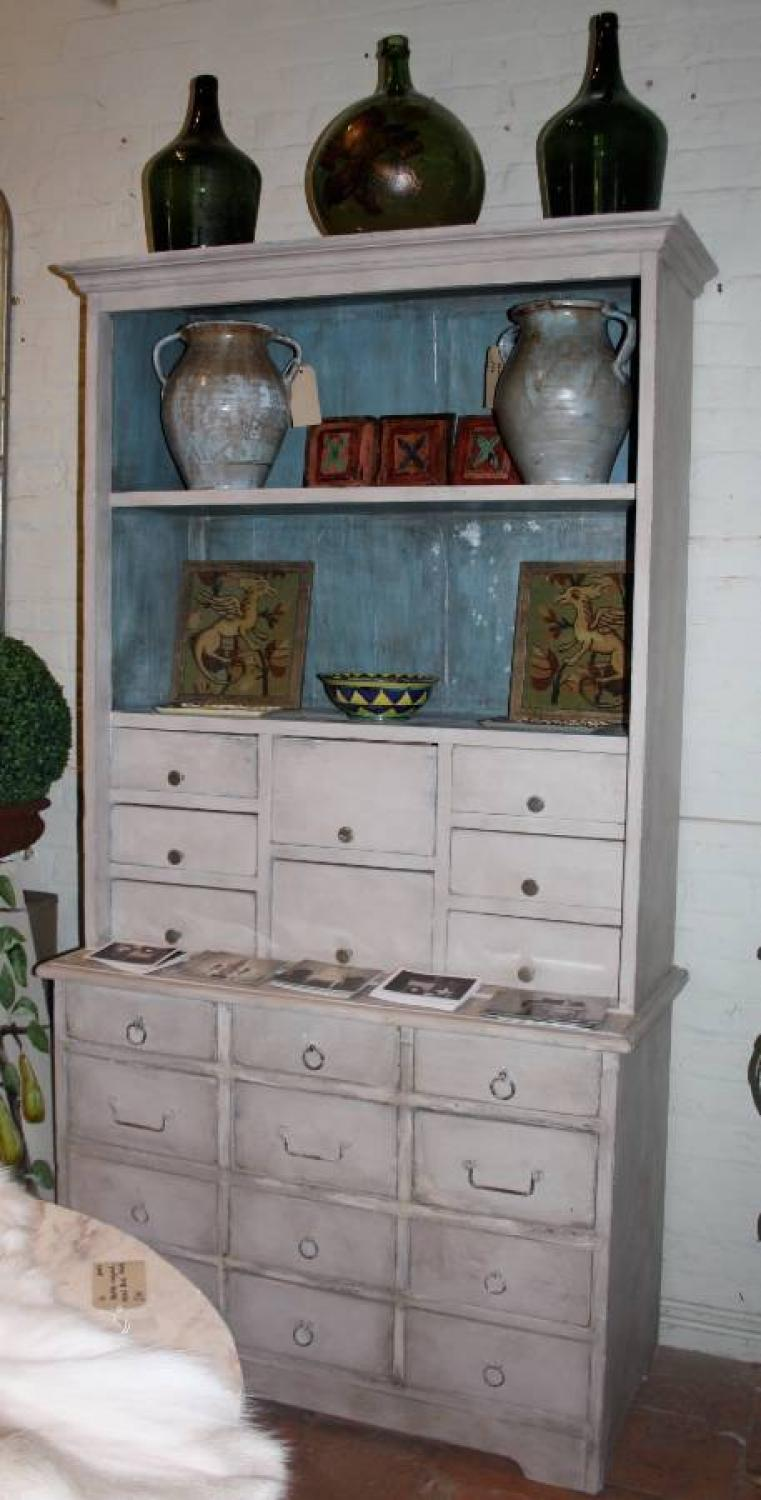 Painted Apothecary Dresser