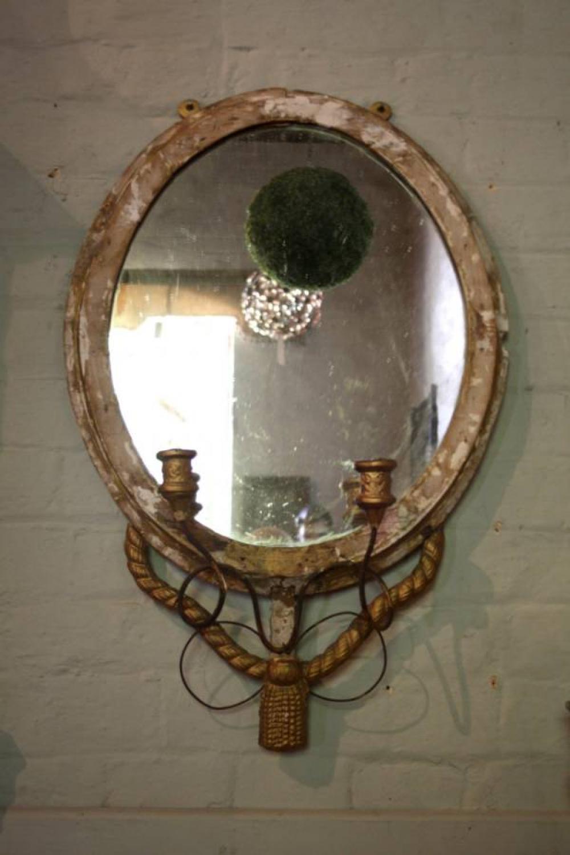 Gilt French girandole mirror