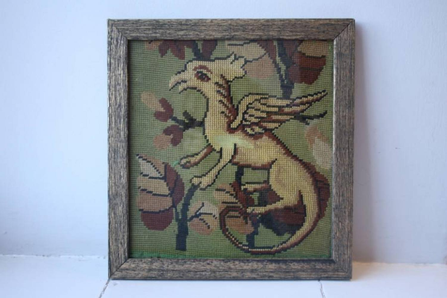 Pair of Griffin Tapestries