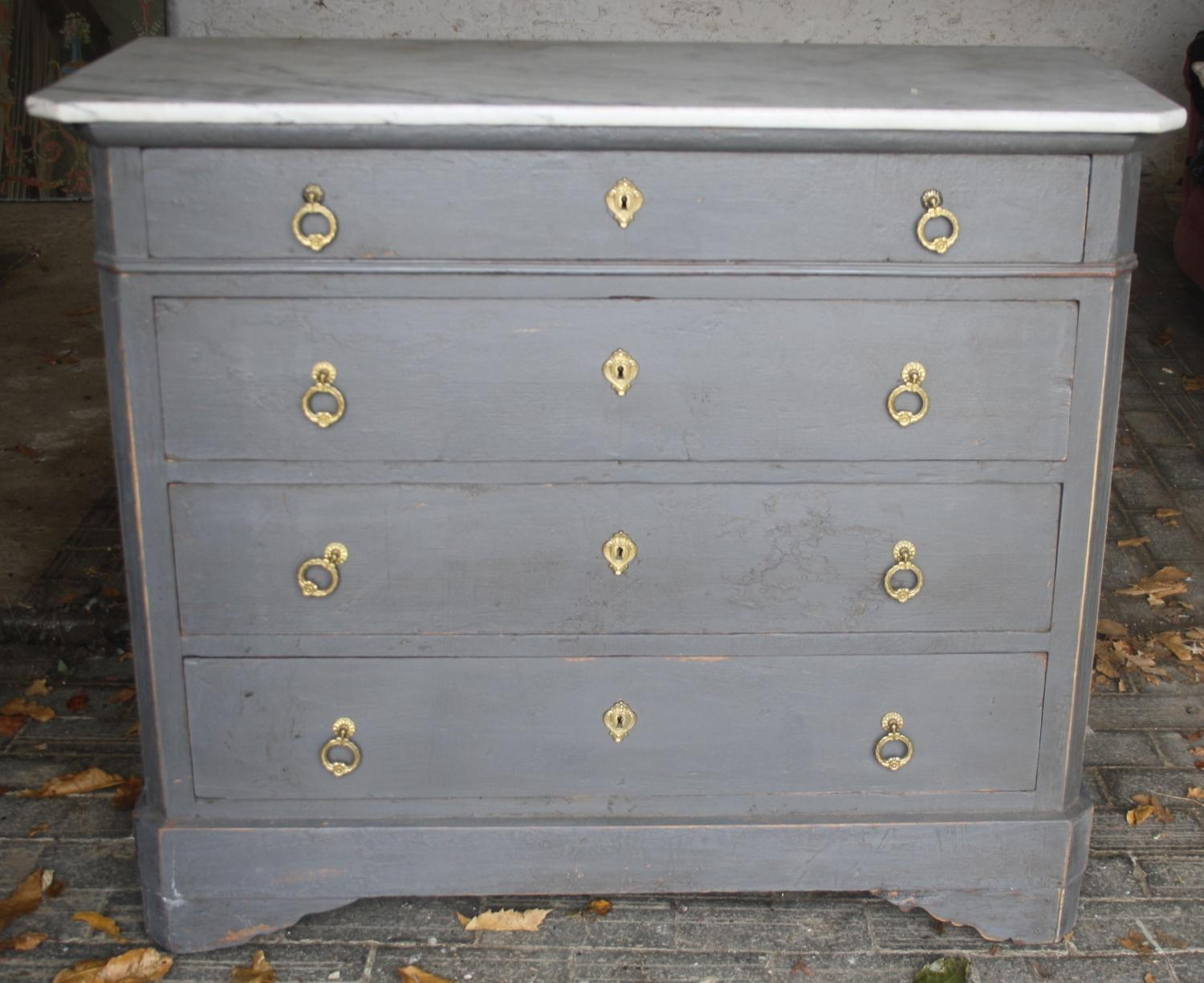 19th Century Painted Pine Chest of Drawers