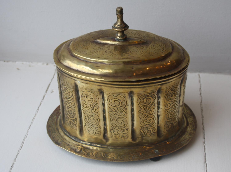Victorian Brass Tea Caddy