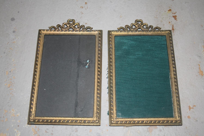 Pair of French Ormolu Photo Frames - 19th C