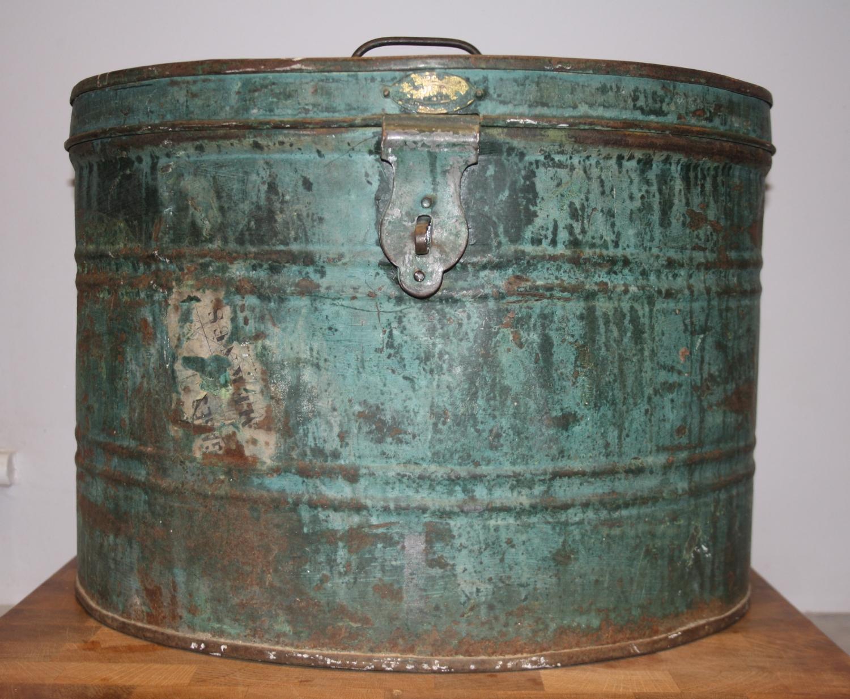 Vintage Tin Hatbox