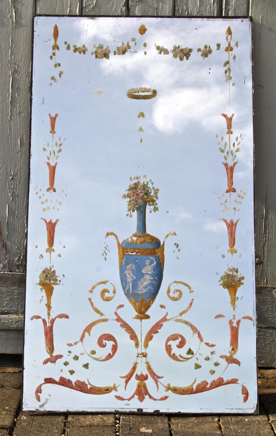 Pair of painted mirrors