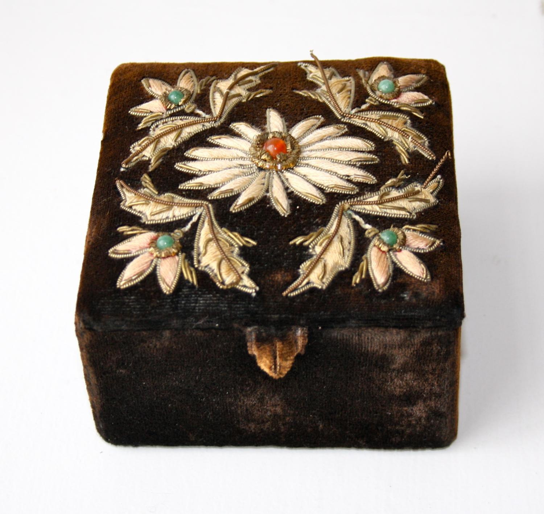 Velvet covered box