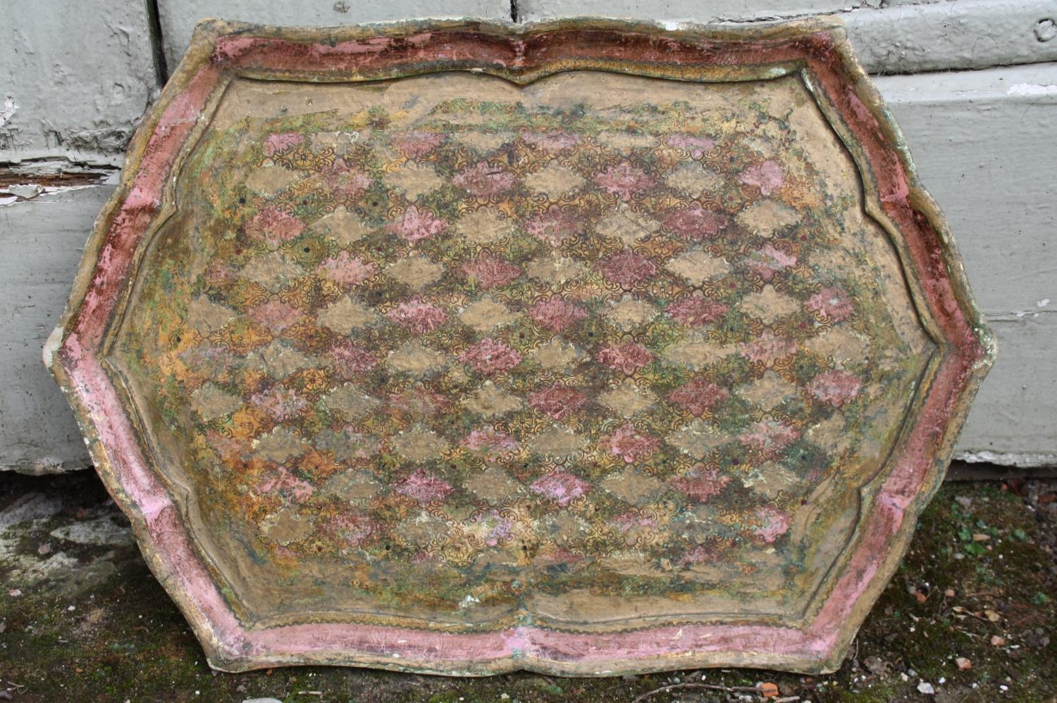 Pink and Gilt Tray - Italian