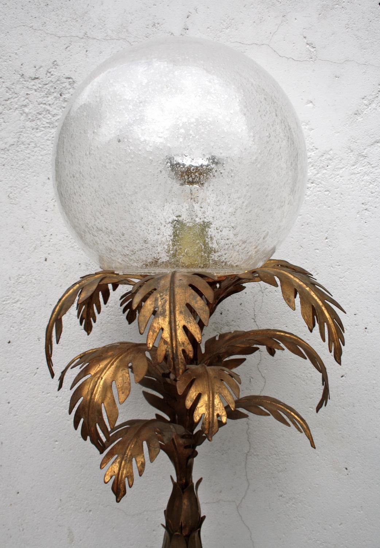Italian Gilt Tropical Floor Lamp
