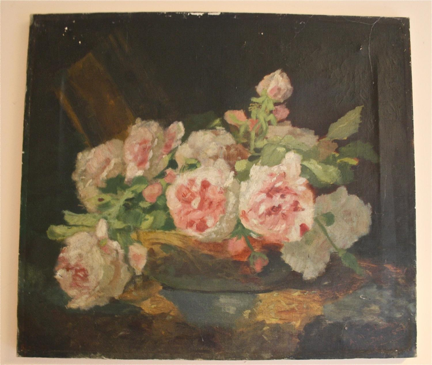 1940's French floral oil