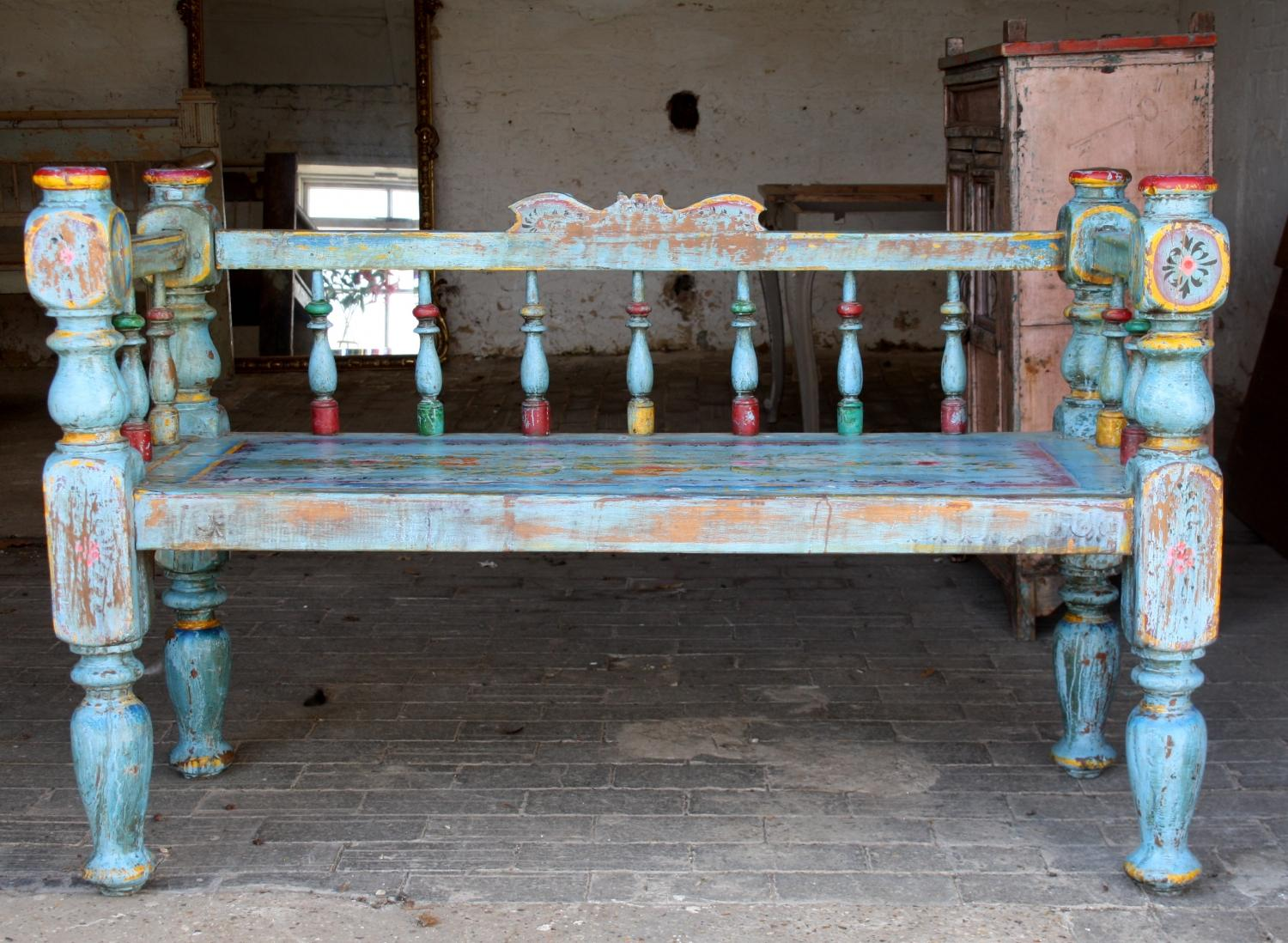 Painted Indian Bench - c1930