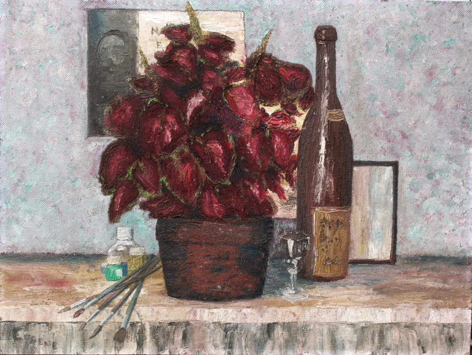 French Oil on Board