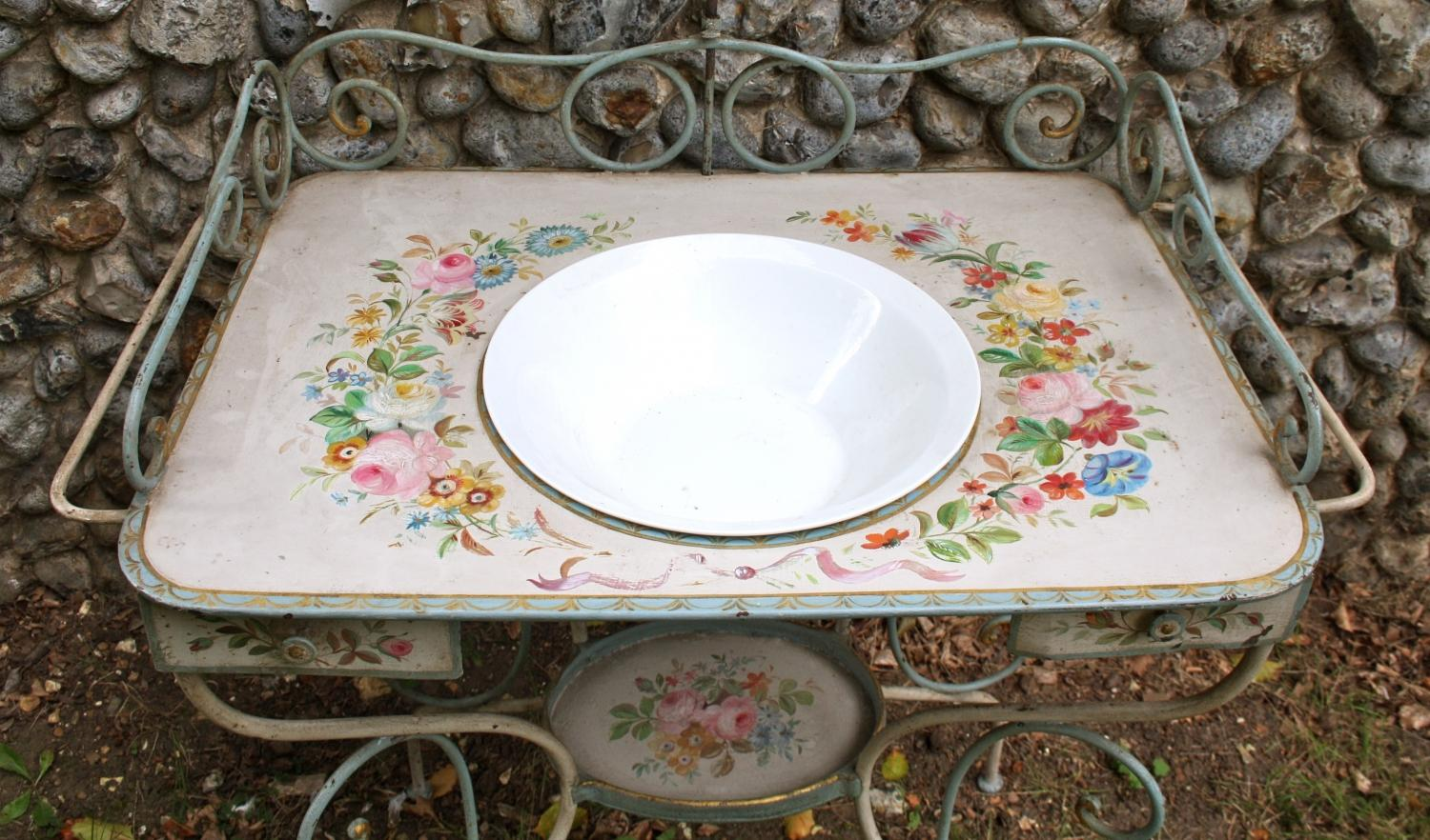 Decorative Painted French Washstand
