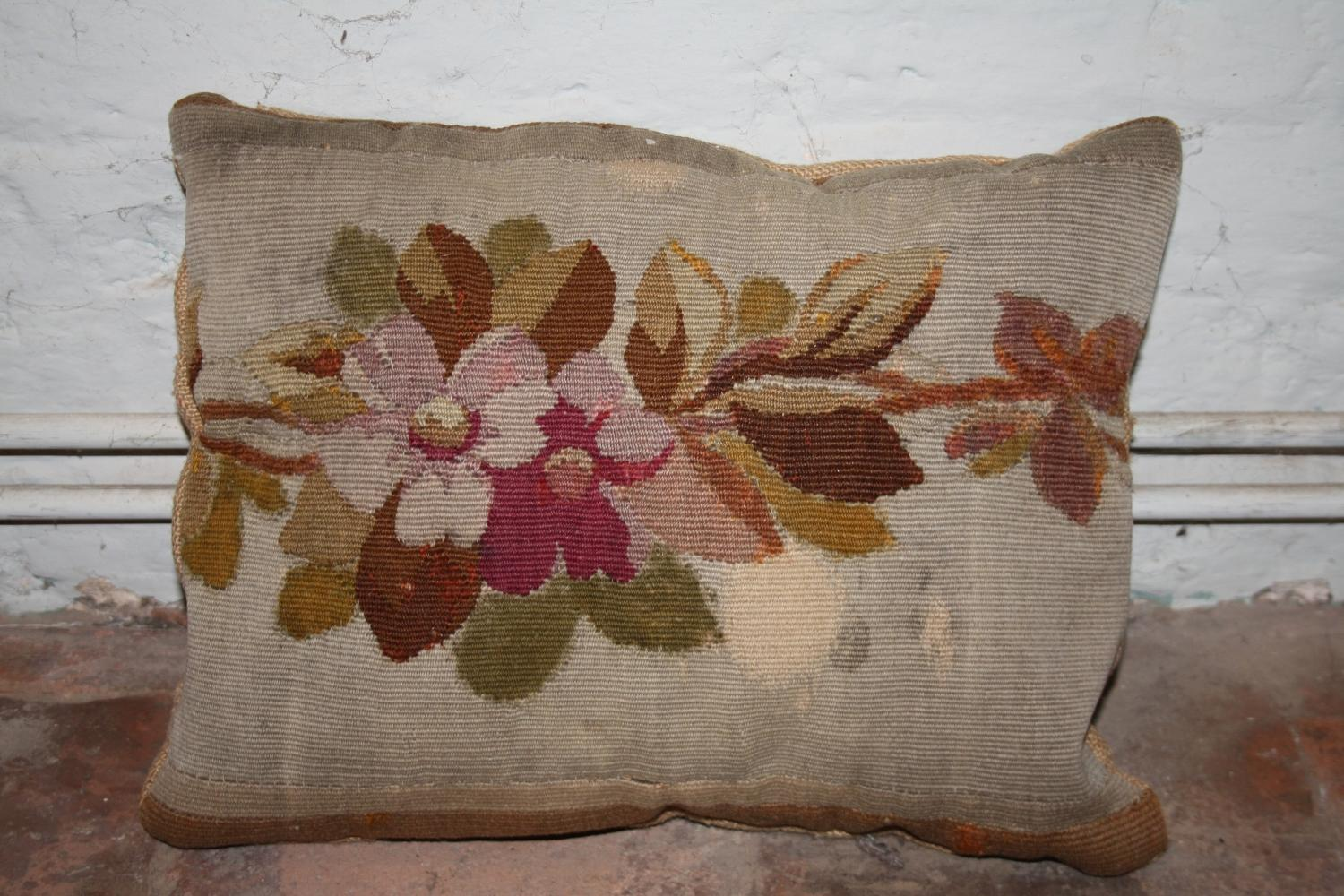 C19th Needlepoint cushion