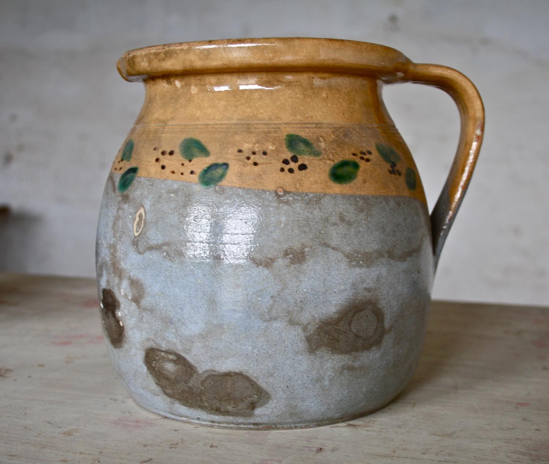 19th Cent glazed earthenware jug