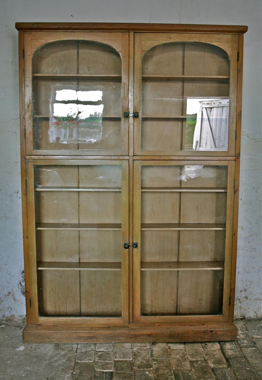 Glazed Pine Bookcase