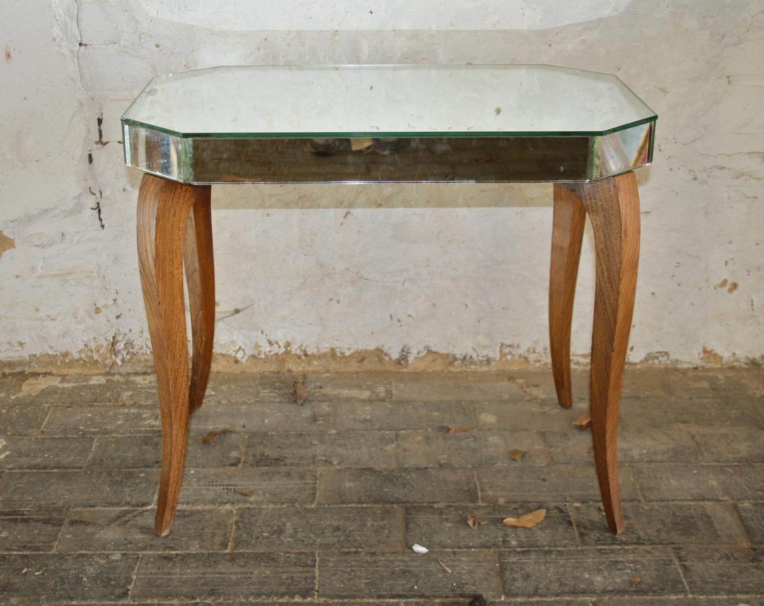 1960's mirrored side table
