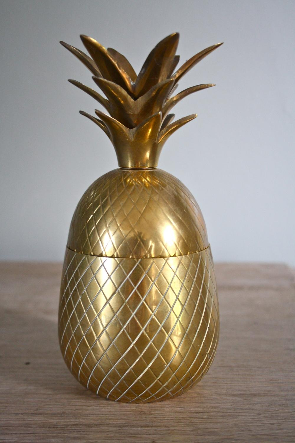 1960's Brass Pineapple Ice Bucket