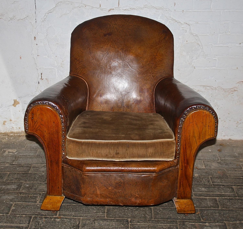 1950's Leather Armchair