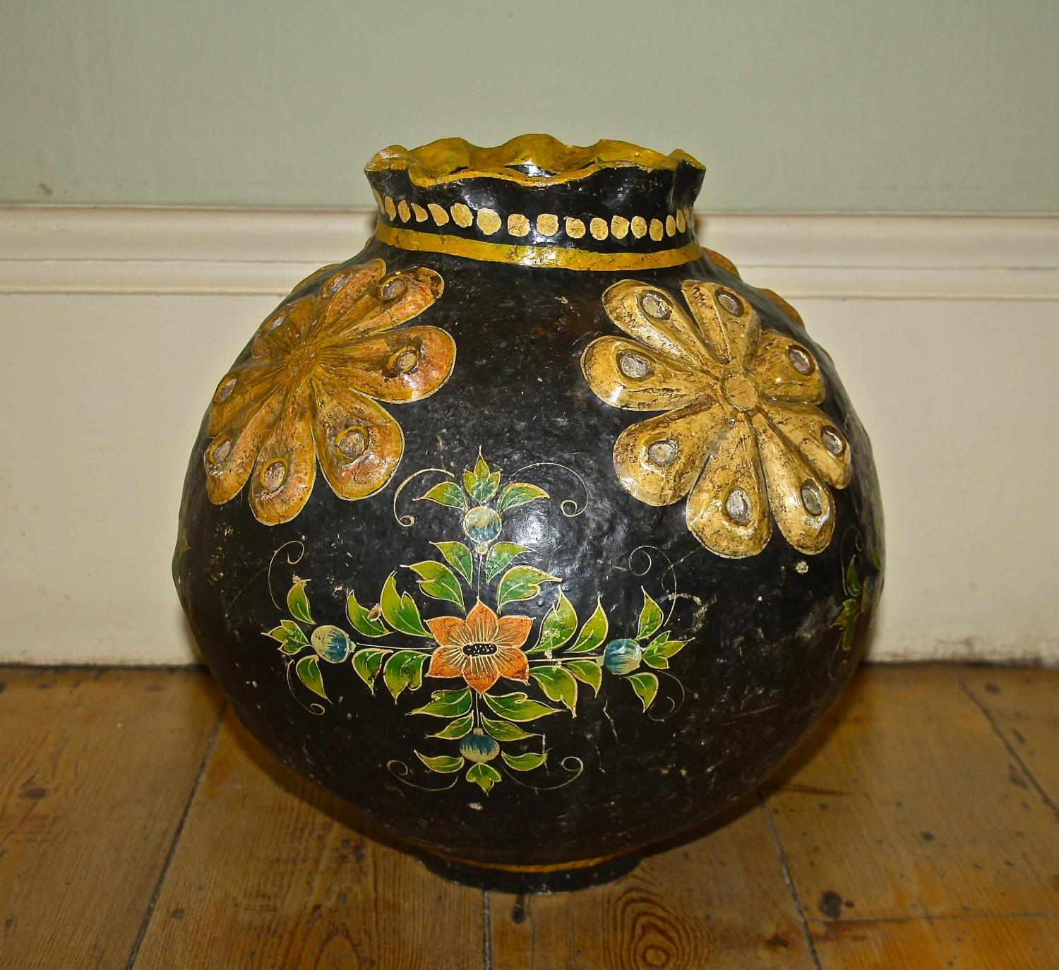 Edwardian Papier Maché Pot