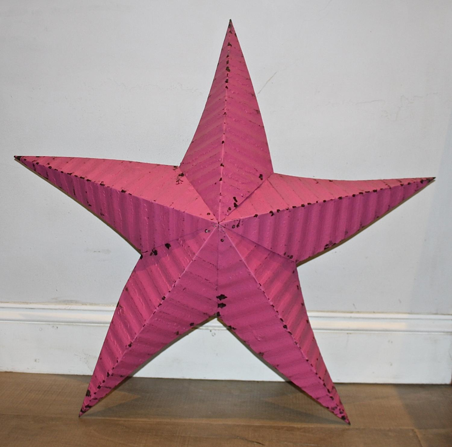 Large Pink Tin Star