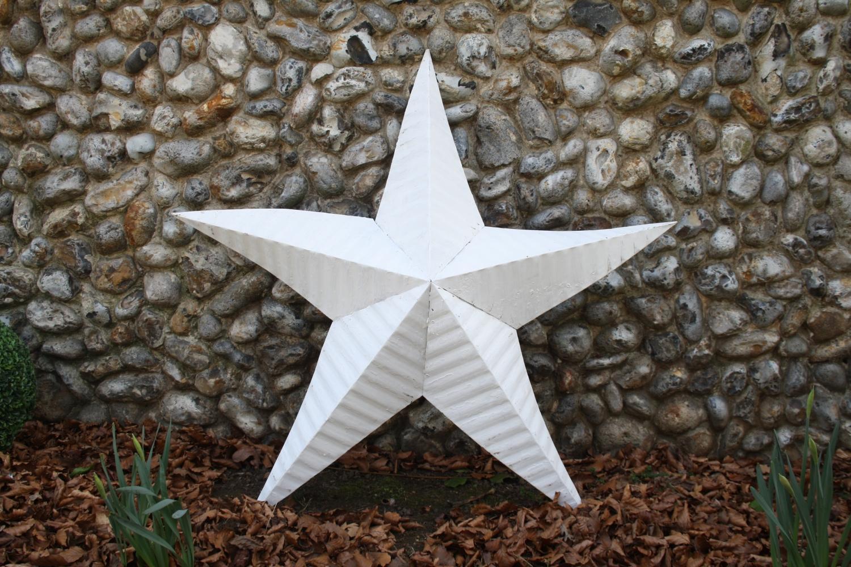 Large White Tin Star
