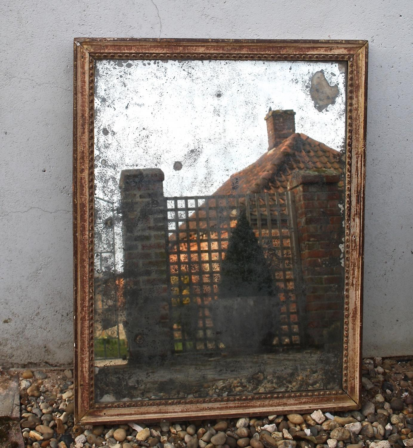 C18th mirror with original plate