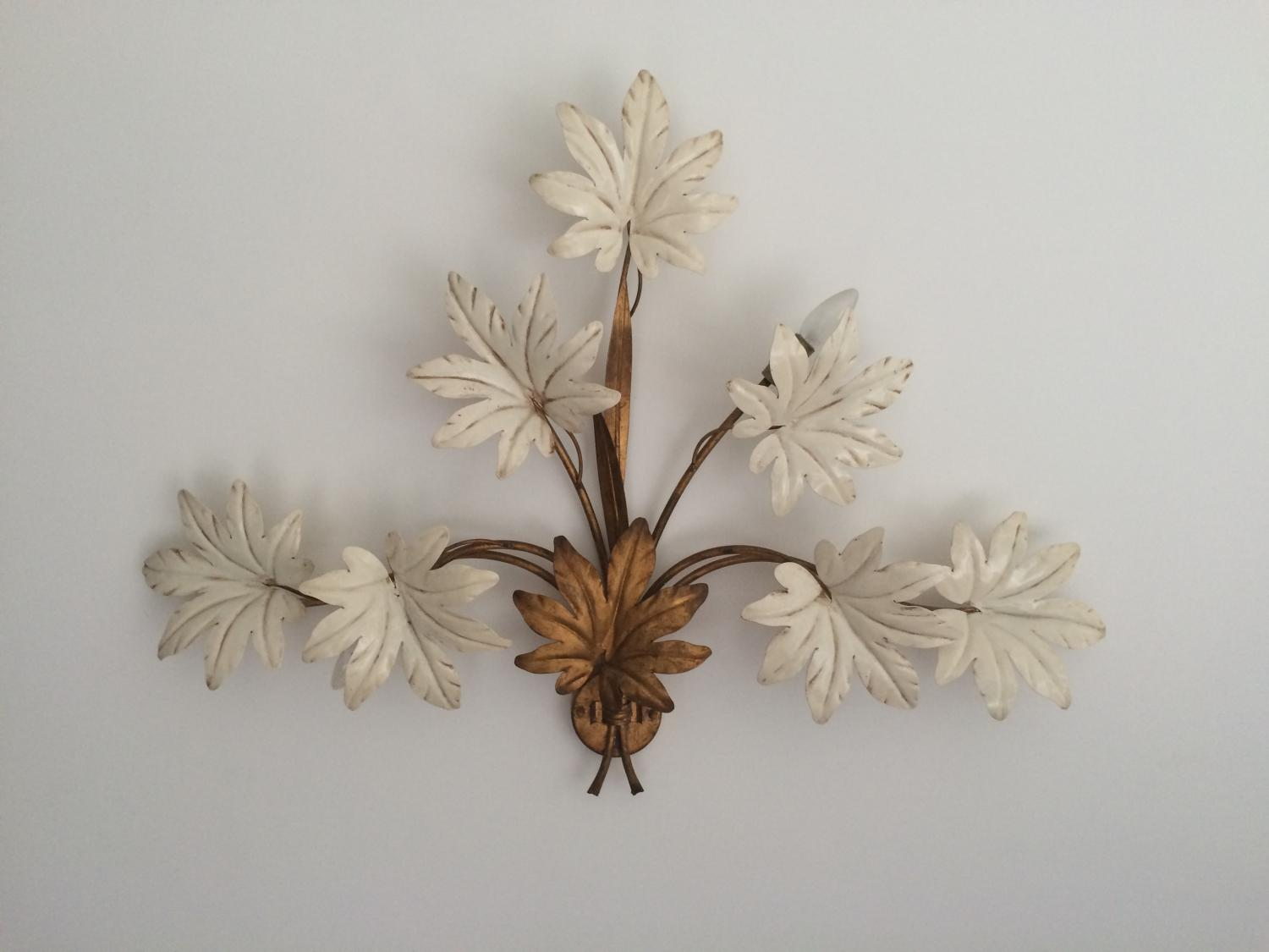Large Italian 1960's Toleware Wall Light