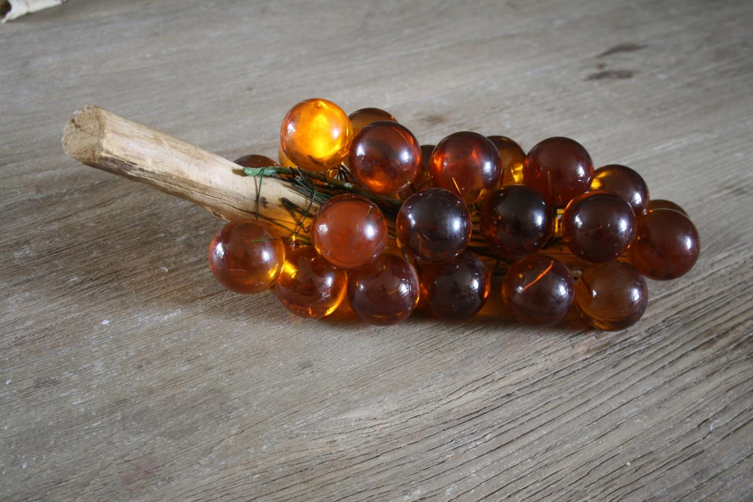 Bunch of mid century lucite grapes