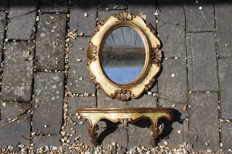 Florentine mirror and shelf