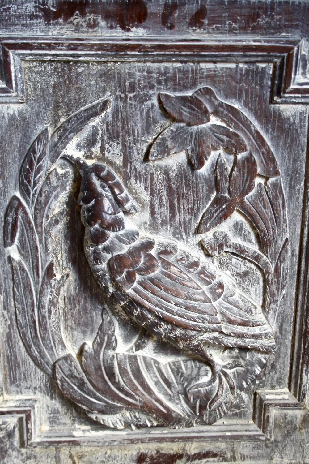 Pair of carved bird panels