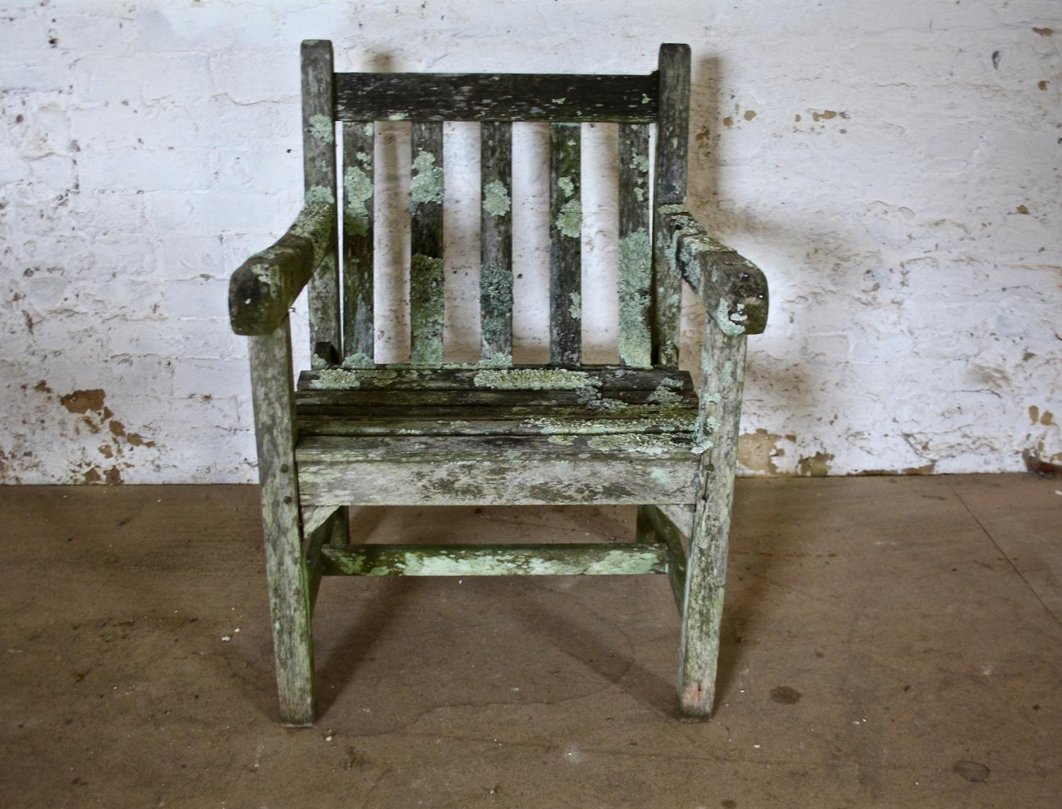 Lichen covered Garden Chair