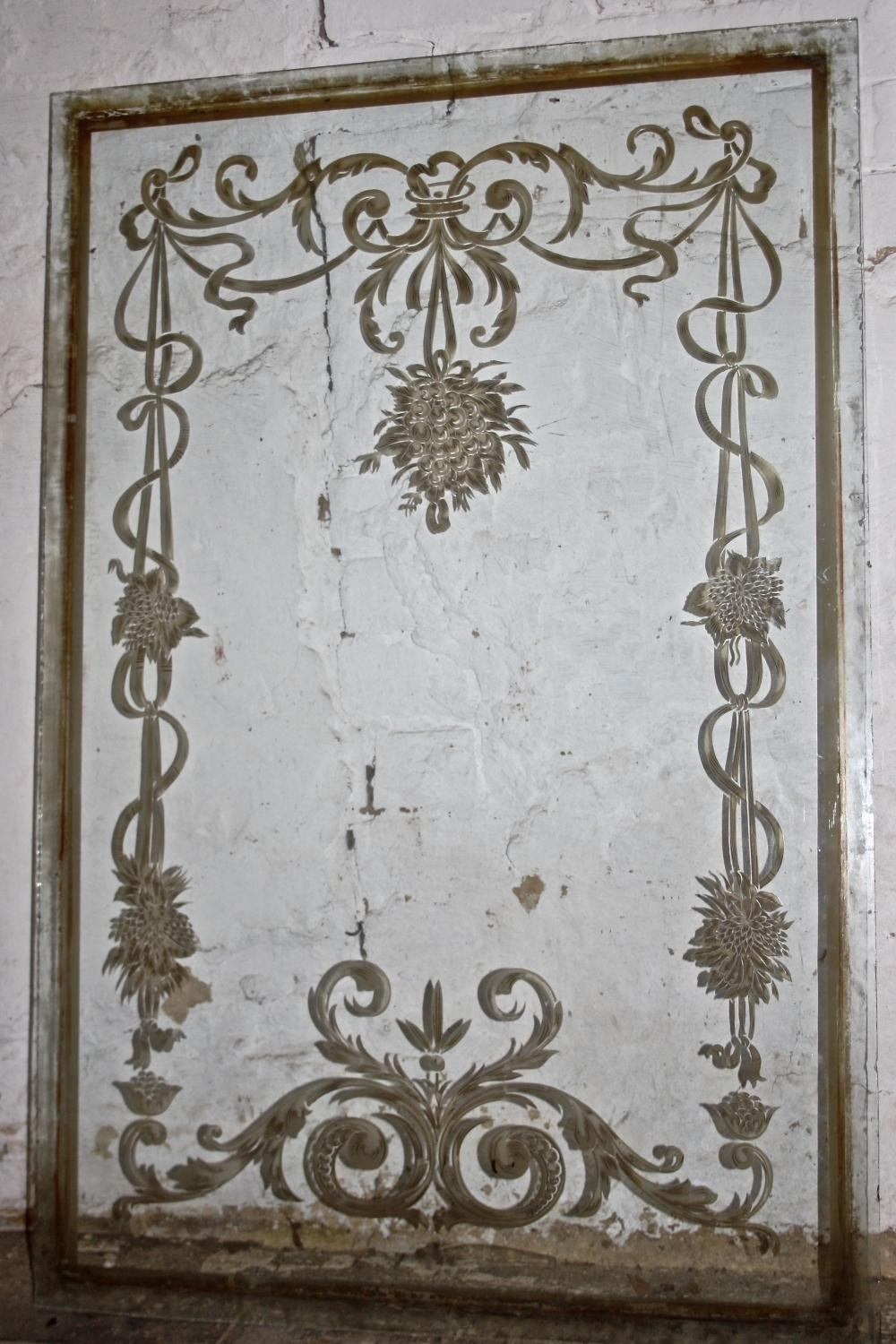 Victorian Etched Glass Panels