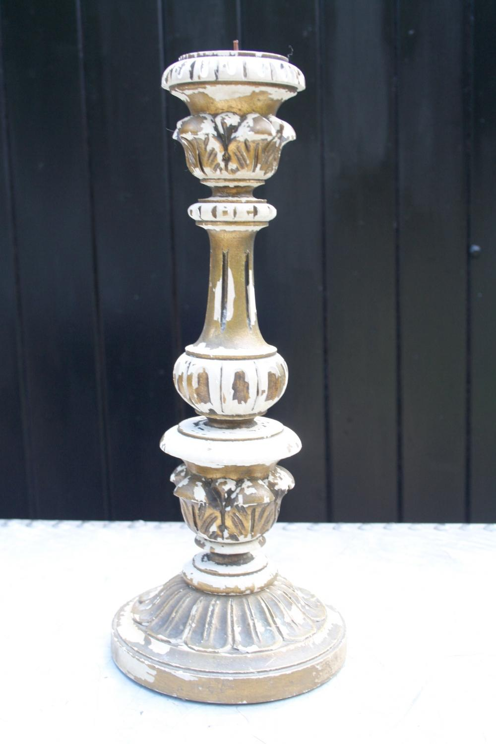 Painted and Gilt Candlestick