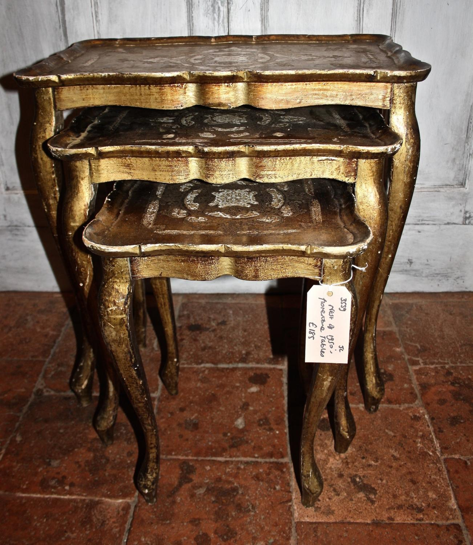 1950's Nest of Florentine Tables