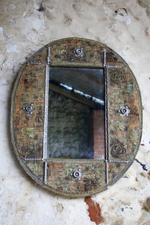 Unusual oval mirror