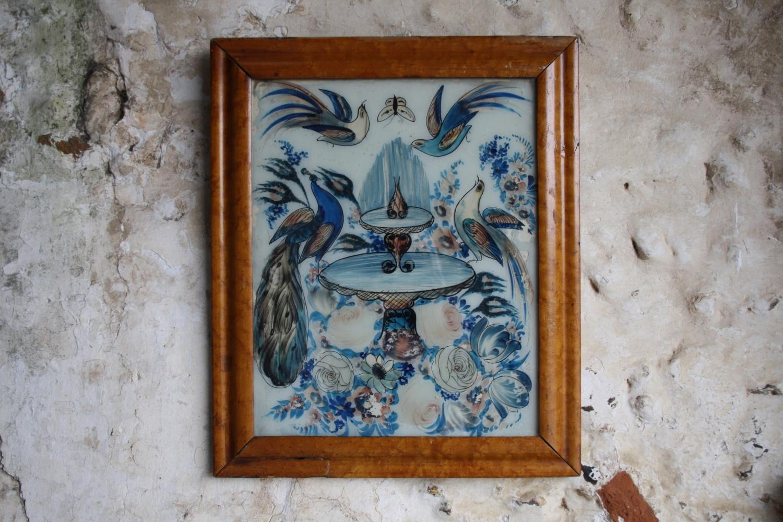 19th Century reverse glass painting