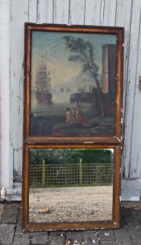 19th Century trumeau mirror