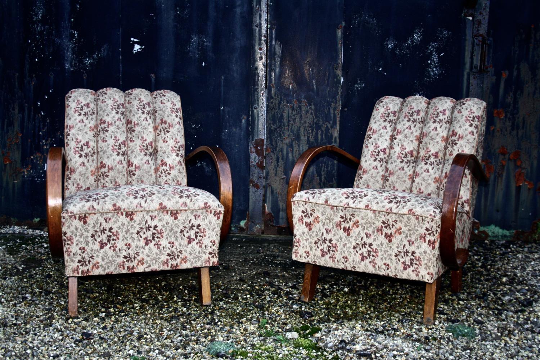 Pair of Jindrich Halabala chairs